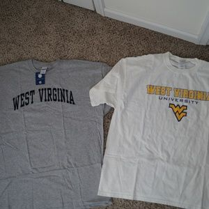 2 Shirt Lot Men's Nike West Virginia NWT Mountaine